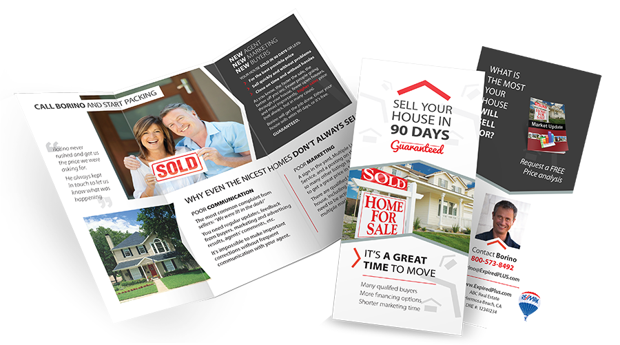 Expired listings brochure for real estate